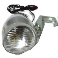 Headlight for bikes, silver colour